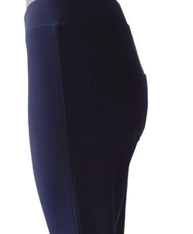 Women's Navy Cropped Pocket Pants Rosarini