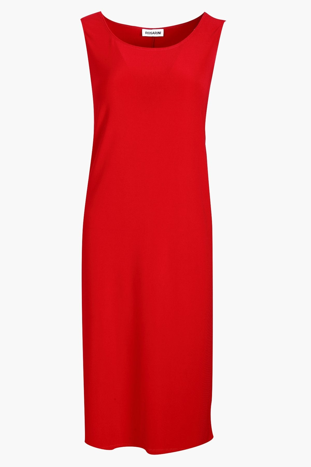 Sleeveless Shift Dress Red
