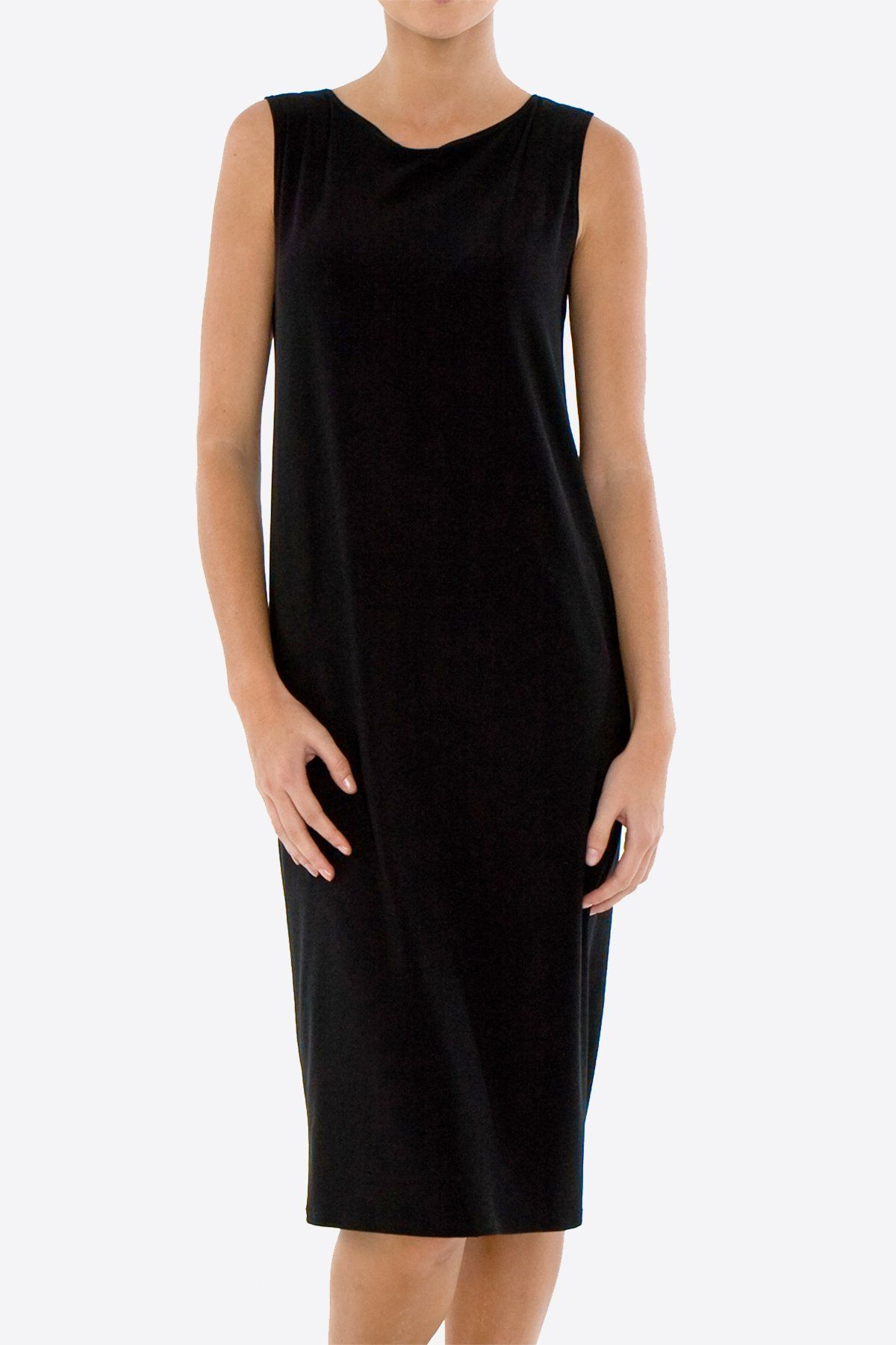 Sleeveless Shift Dress Black