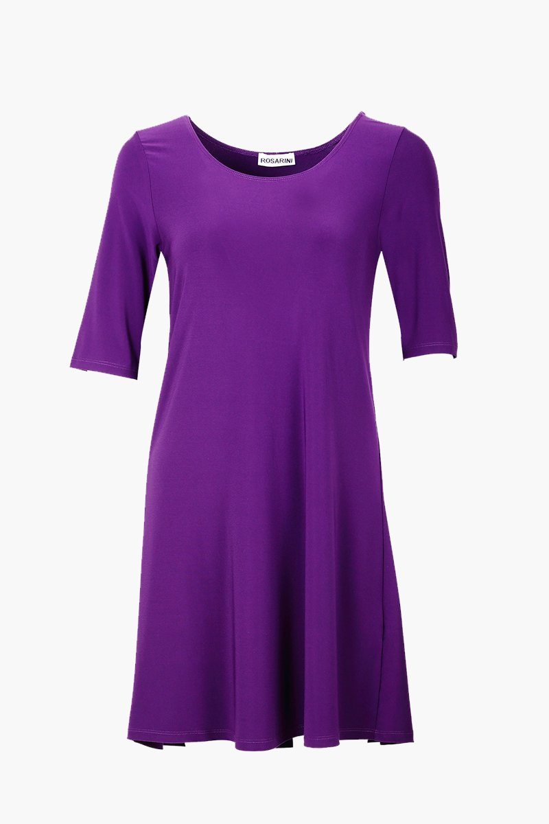 Women's Short Sleeve A-Line Dress Top