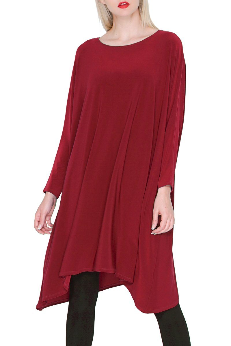 3/4 Sleeve Dress Red