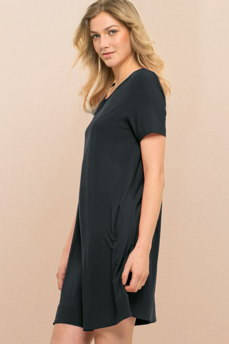 A Line Black Dress - Siena Dress