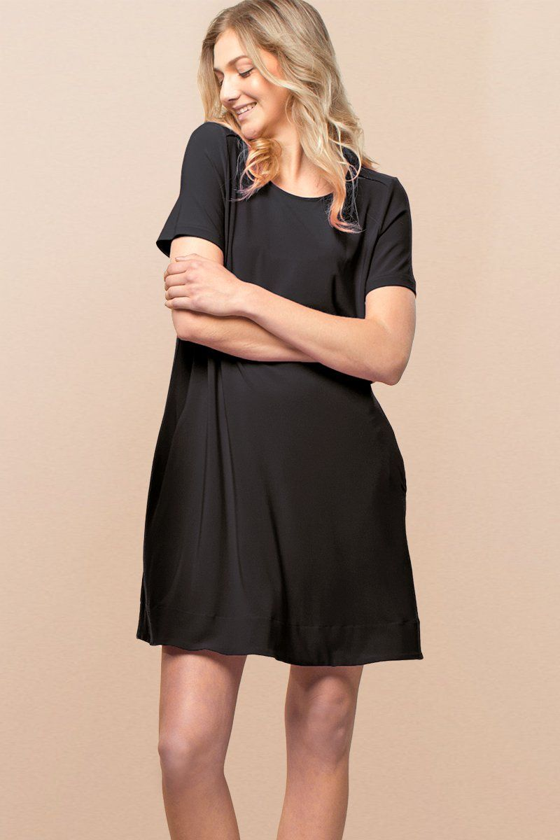 Women Black A Line Dress - Siena Dress