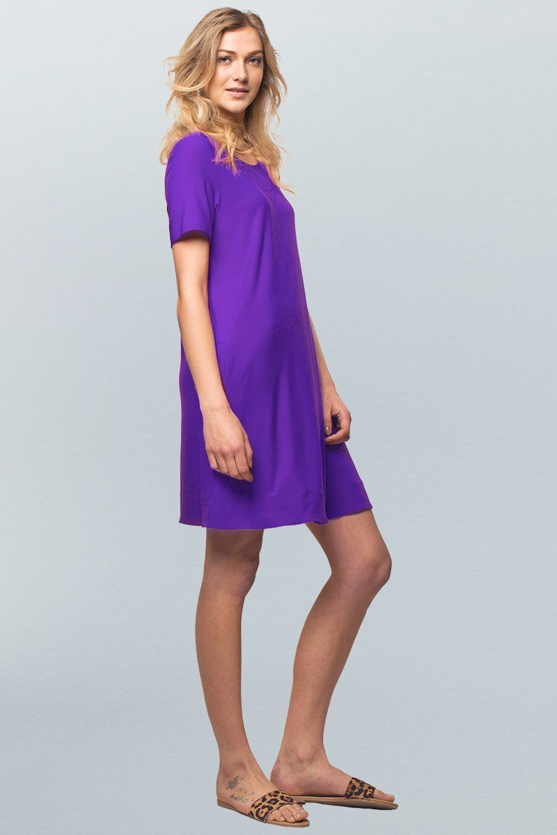 Short Sleeve Women A-line Dress - Siena Dress