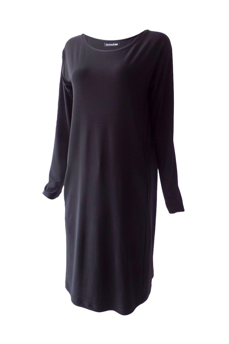 Black Long Sleeve Mod Dress