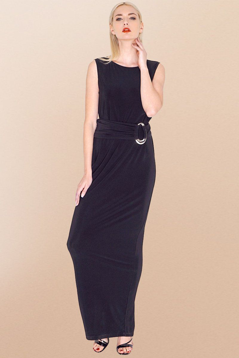 Long Maxi Black Shift Dress