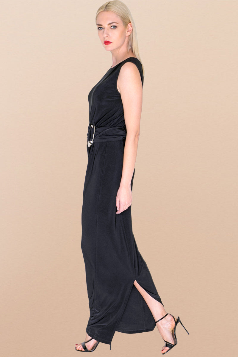 Black Maxi Long Shift Dress