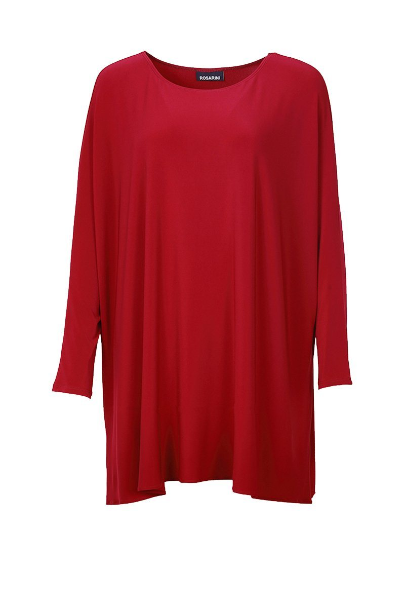 Women's Dark Red 3/4 Sleeve Ivan Top Rosarini