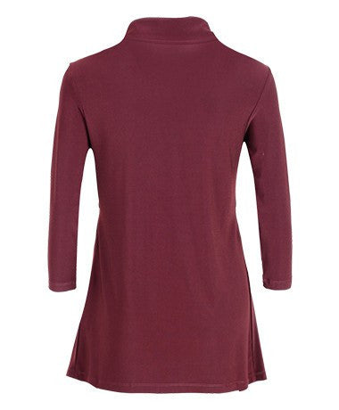 Women's Chestnut Button Through Blouse Rosarini