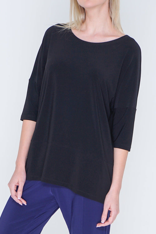 Quarter Sleeve Basic T-Shirt Top JS Top