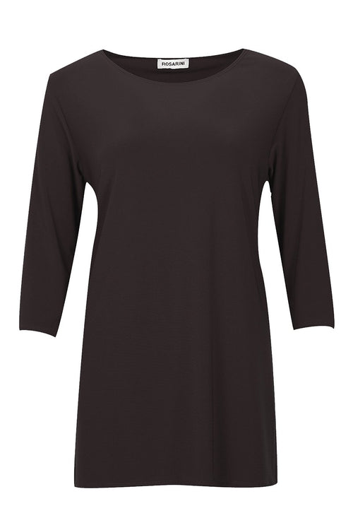 Quarter sleeve black top women