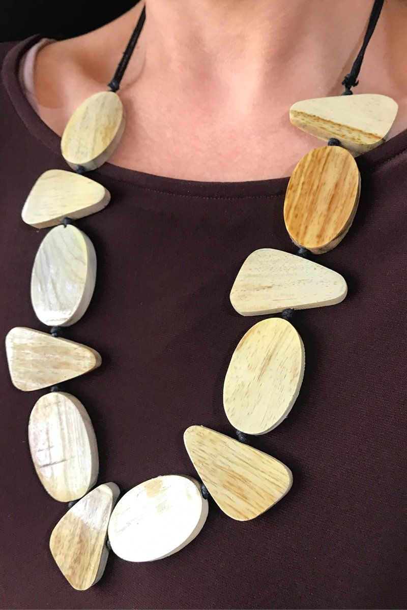 Handmade Statement Piece Wooden Necklace