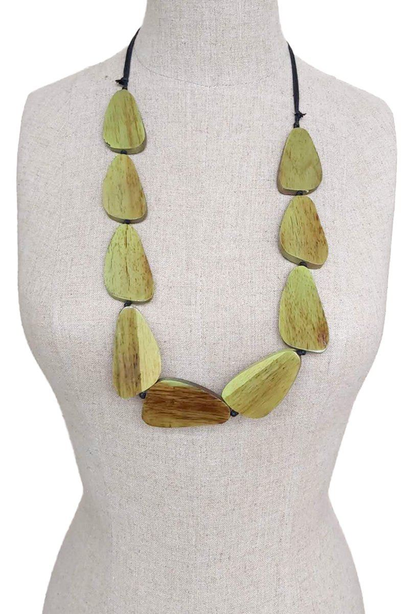 Mango wooden handmade necklace