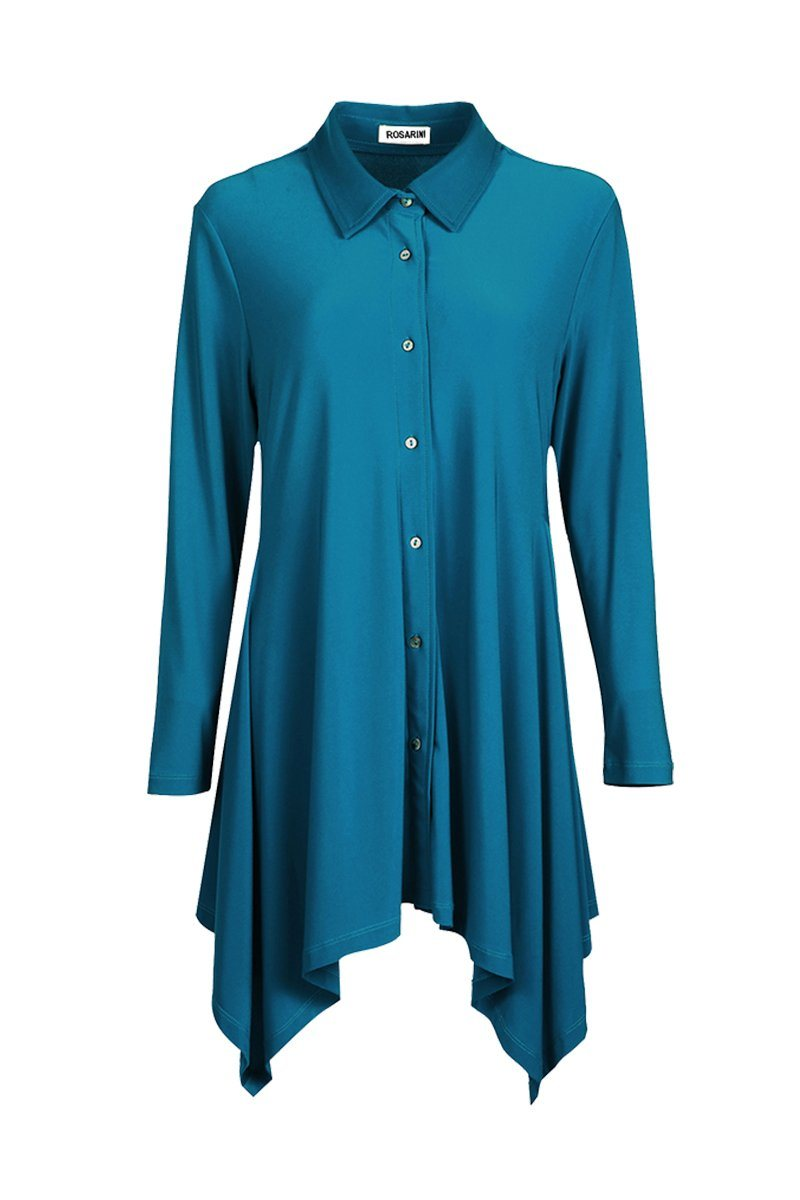 Button Blouse - Women's Clothing -ROSARINI