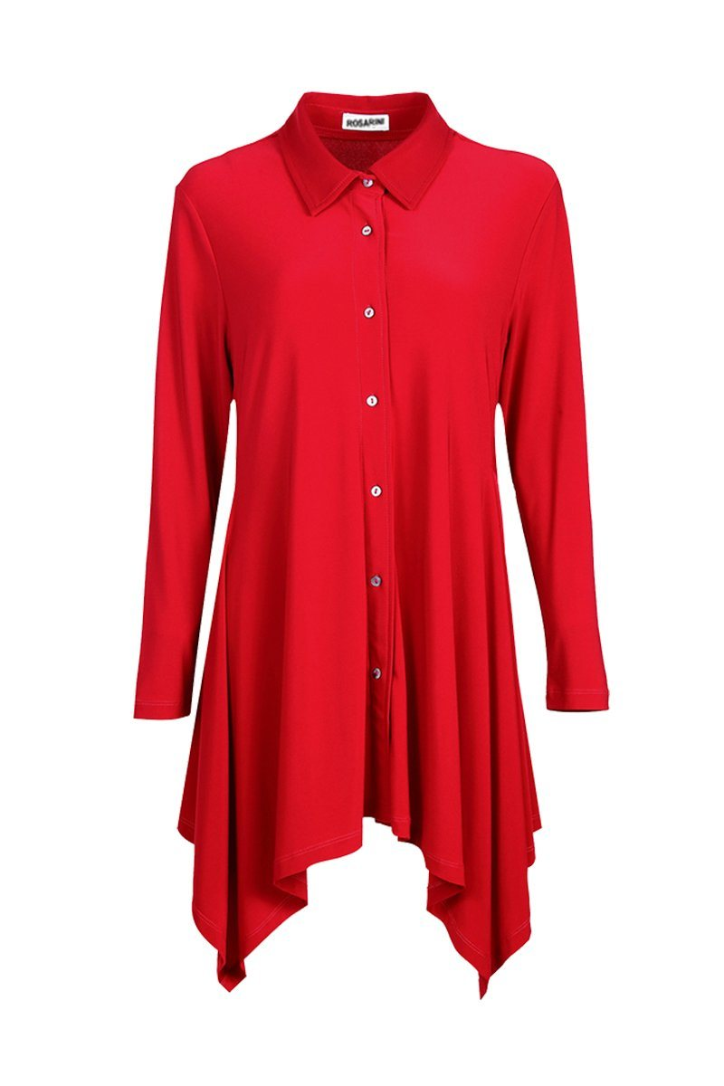 Women button up handkerchief shirt