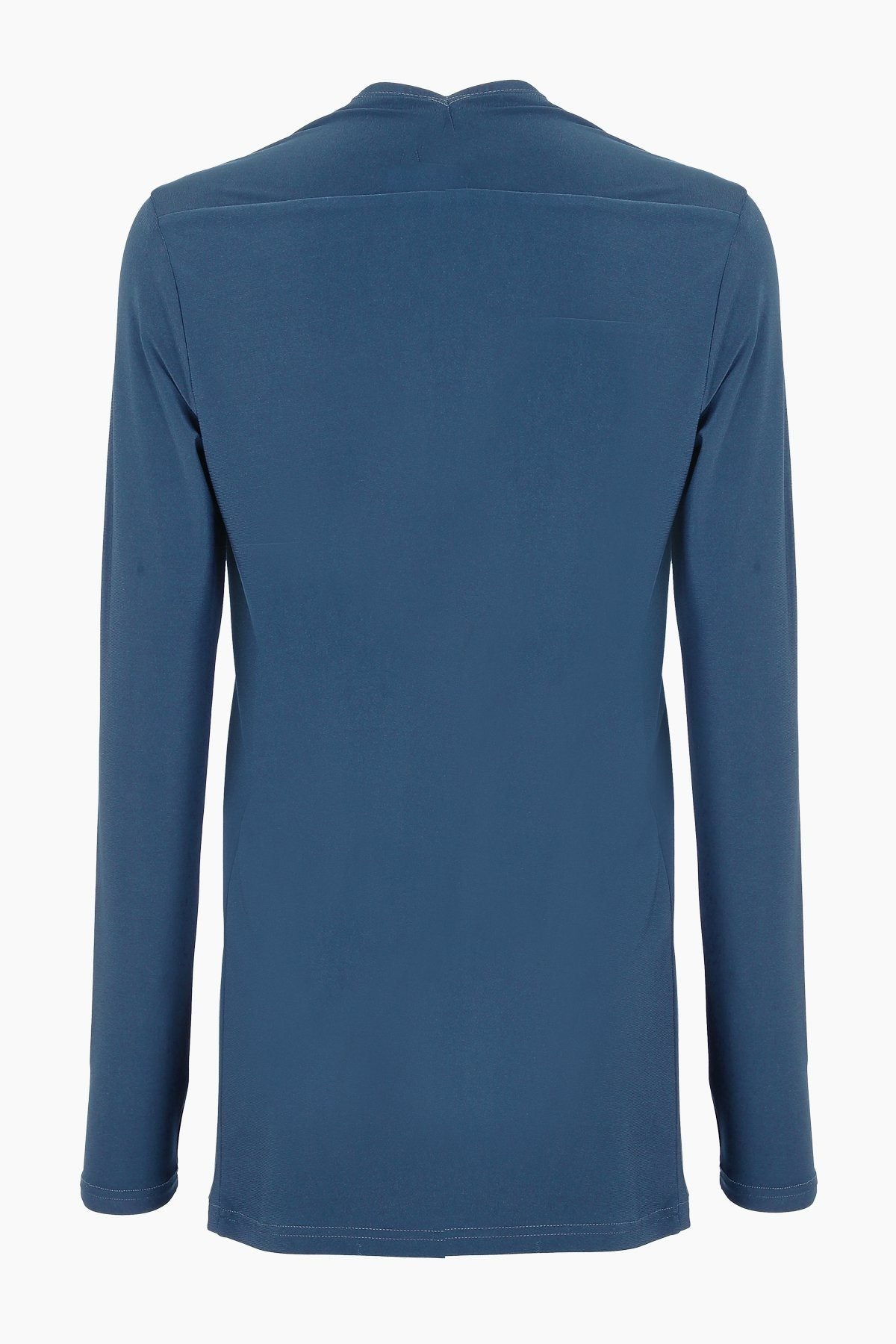Long Sleeve Crossover Top teal