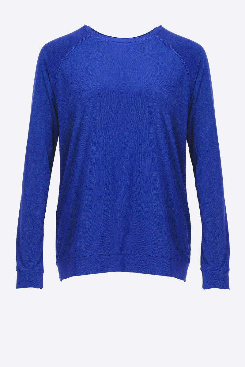 Crew Neck Long Sleeve Casual Top - Women's Clothing -ROSARINI