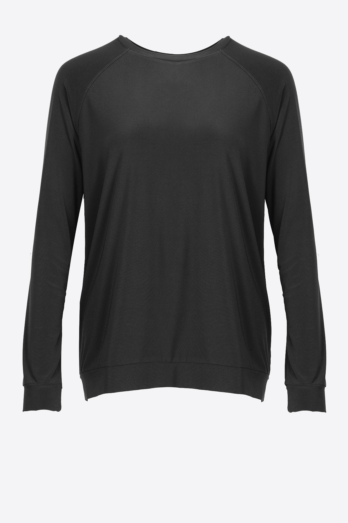 Crew Neck Long Sleeve Casual Top (Plus Size) - Women's Clothing -ROSARINI