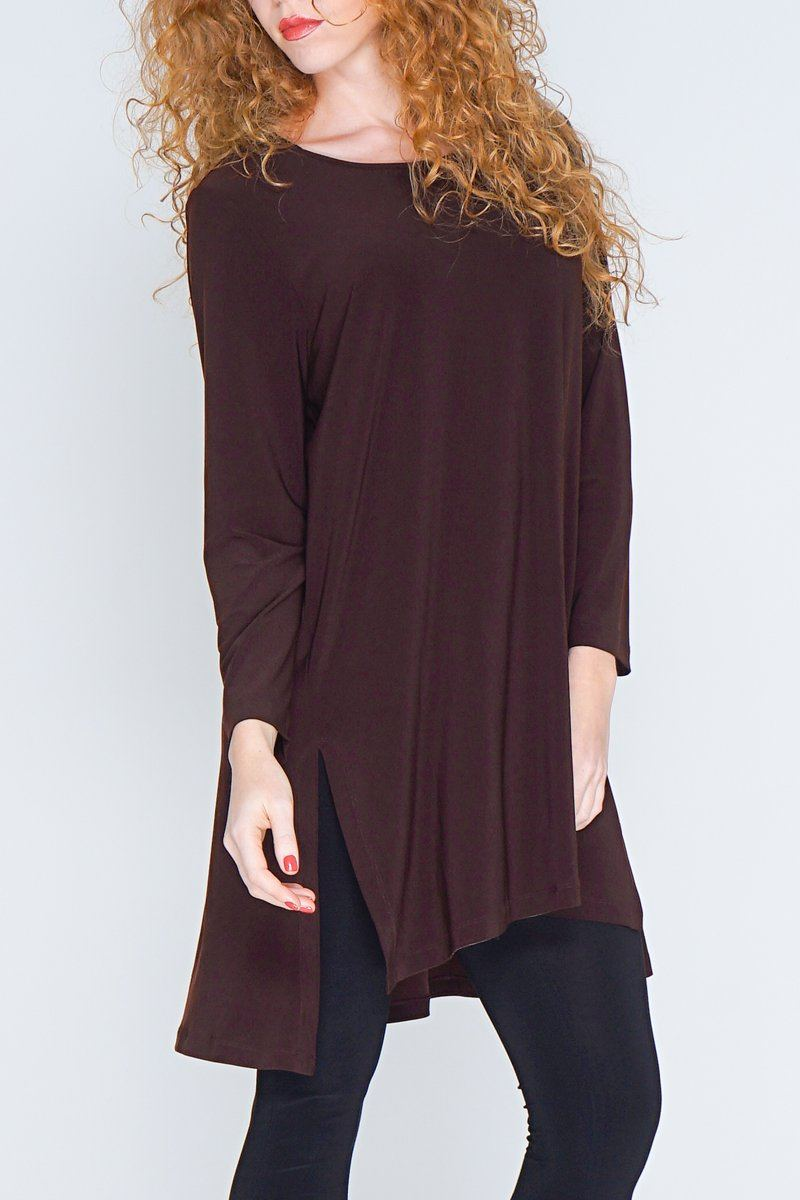 Long Sleeve High Low Tunic Top