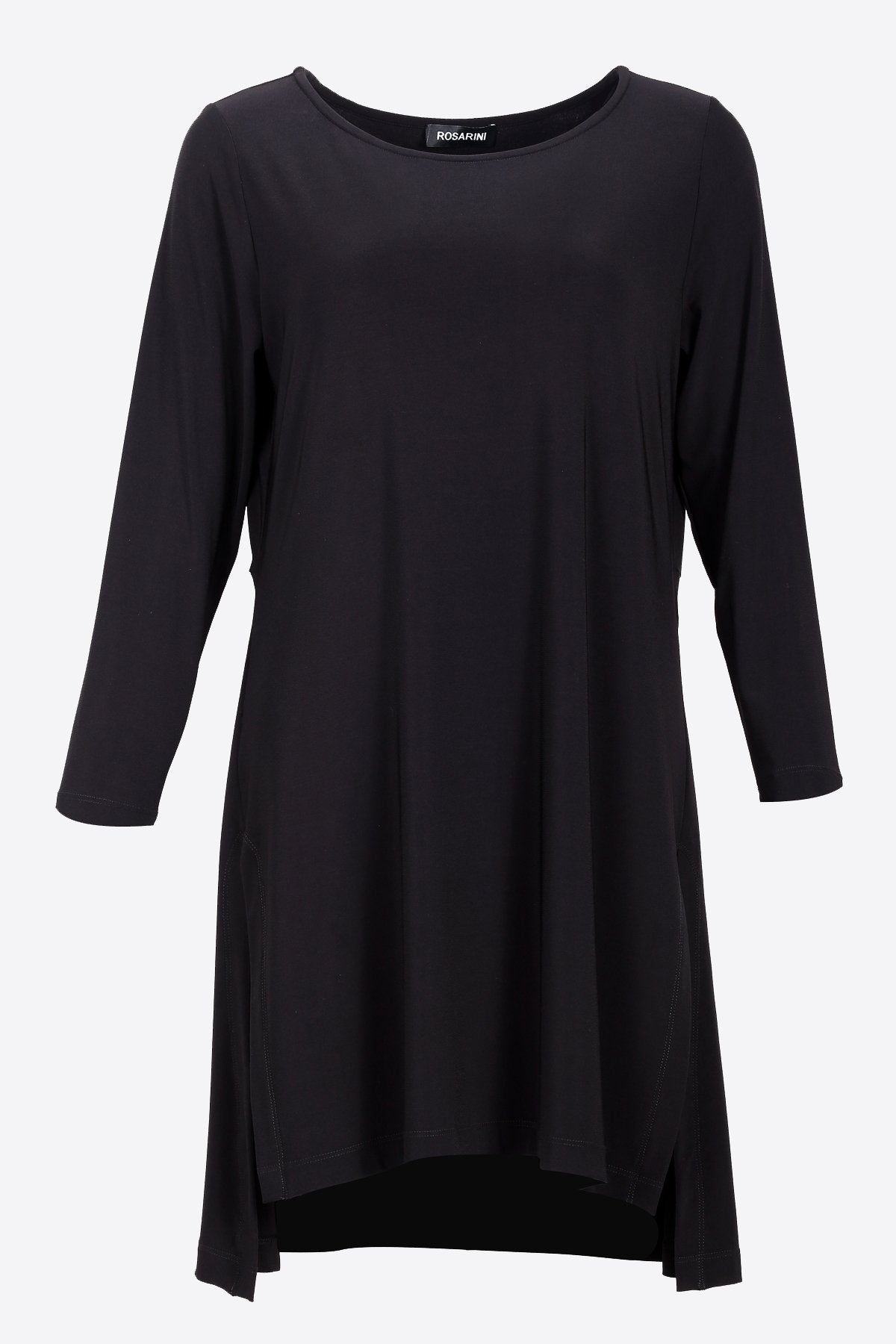 HI LOW SIDE SPLIT TUNIC black