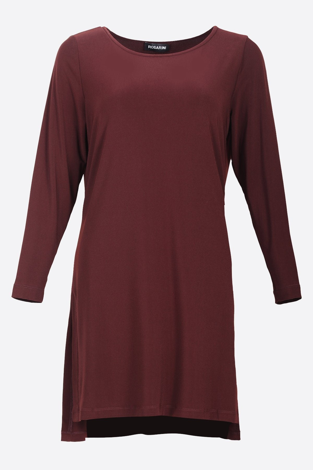 HI LOW SIDE SPLIT TUNIC chestnut