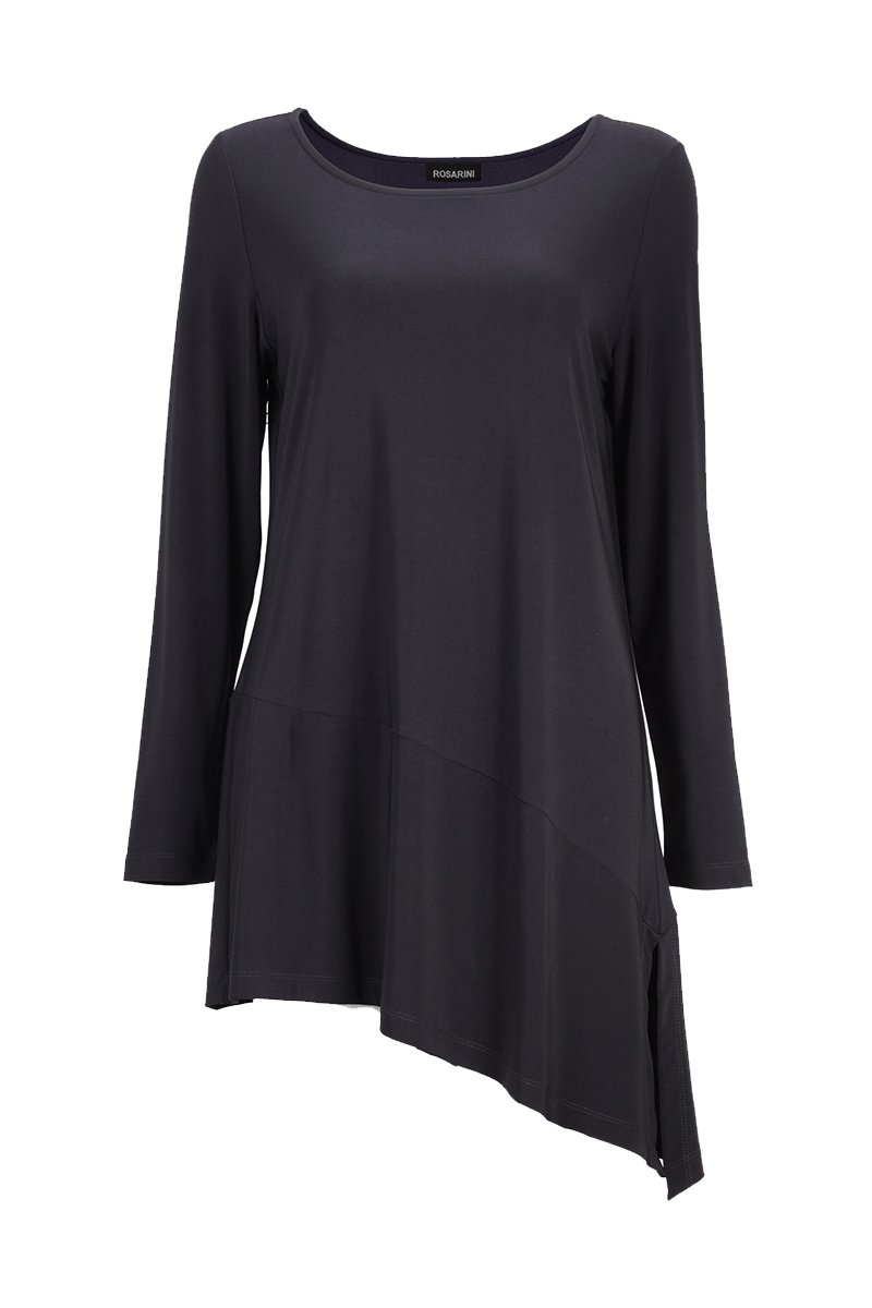 Women's Black Asymmetric Tunic Rosarini