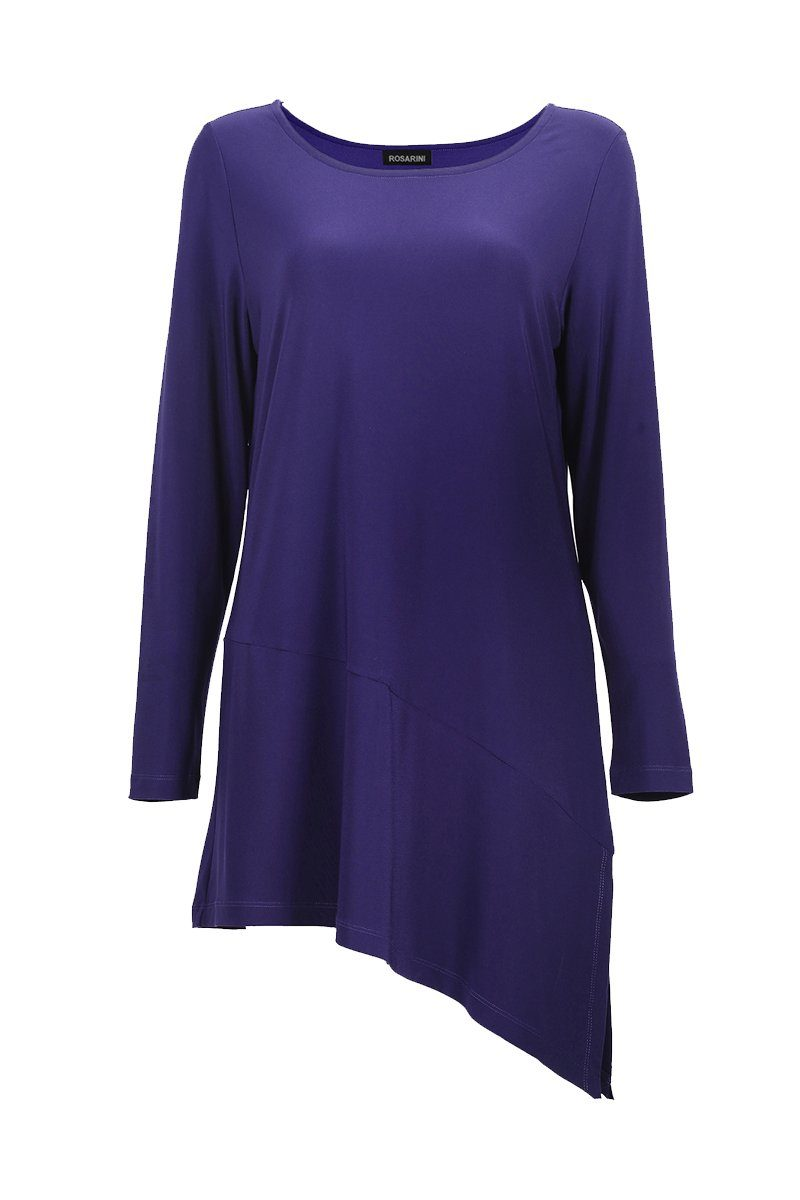 Women's Navy Asymmetric Tunic Rosarini