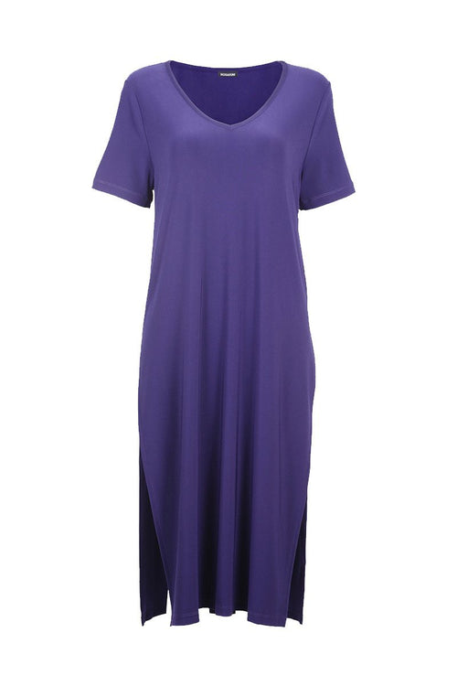 Long Tunic with Side Splits - Women's Clothing -ROSARINI