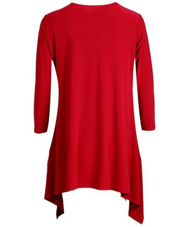 PLUS SIZE Long Flyaway Cardigan red