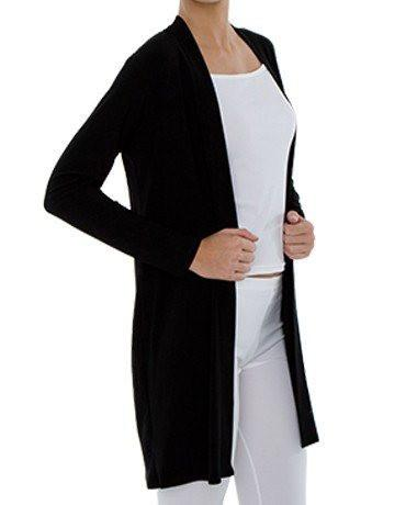 PLUS SIZE Long Sleeve Mid Length Cardigan black