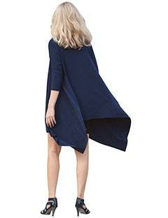 Long Flyaway Cardigan navy