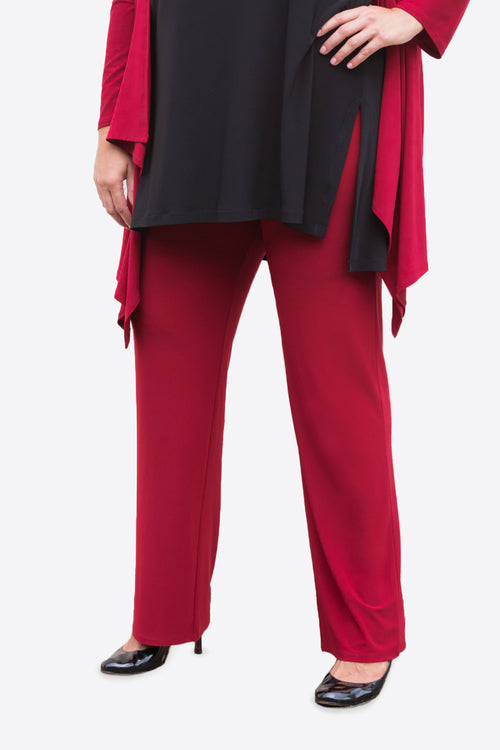 Straight-Leg Pants red