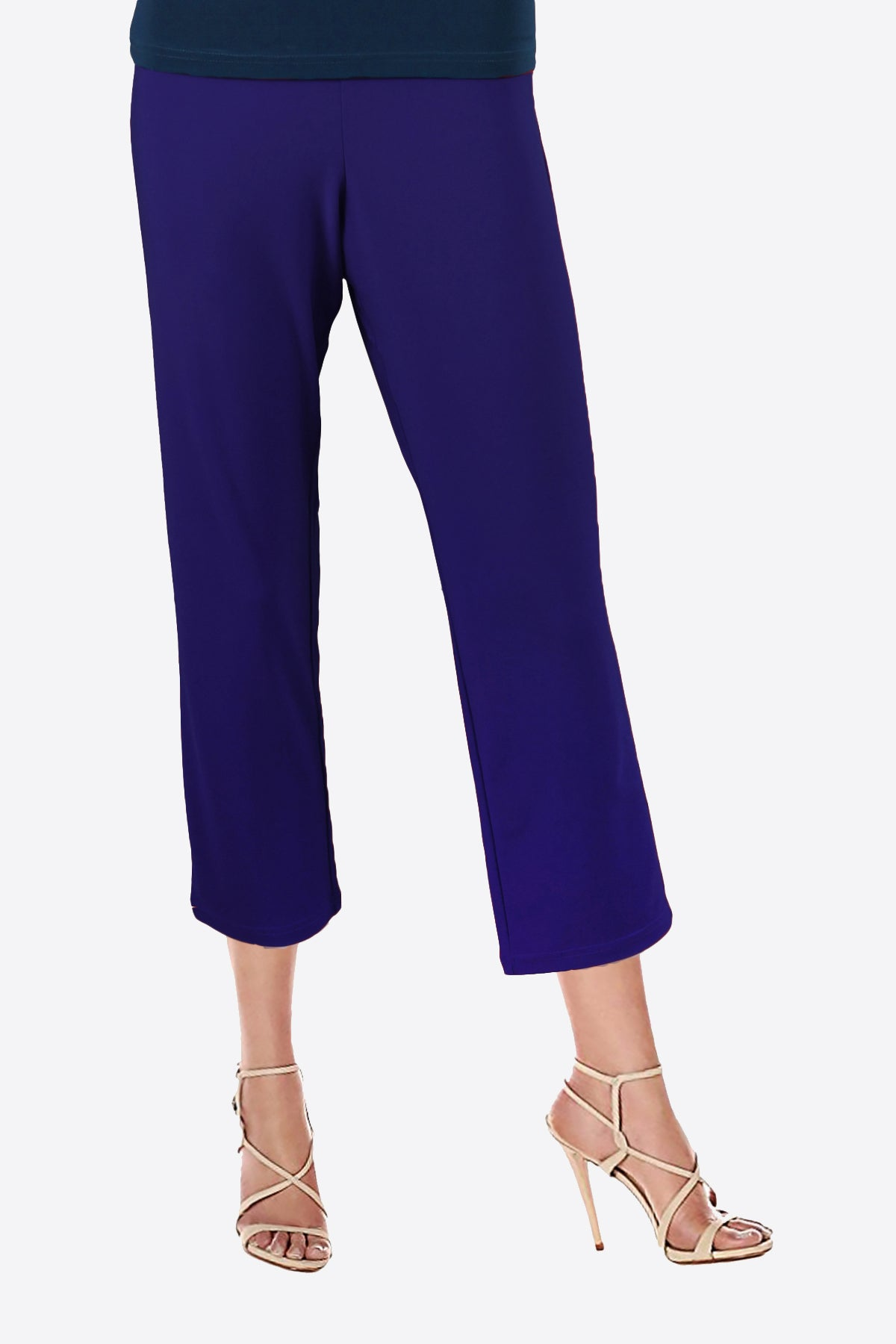 Women's Navy 3/4 Capri Pants Rosarini