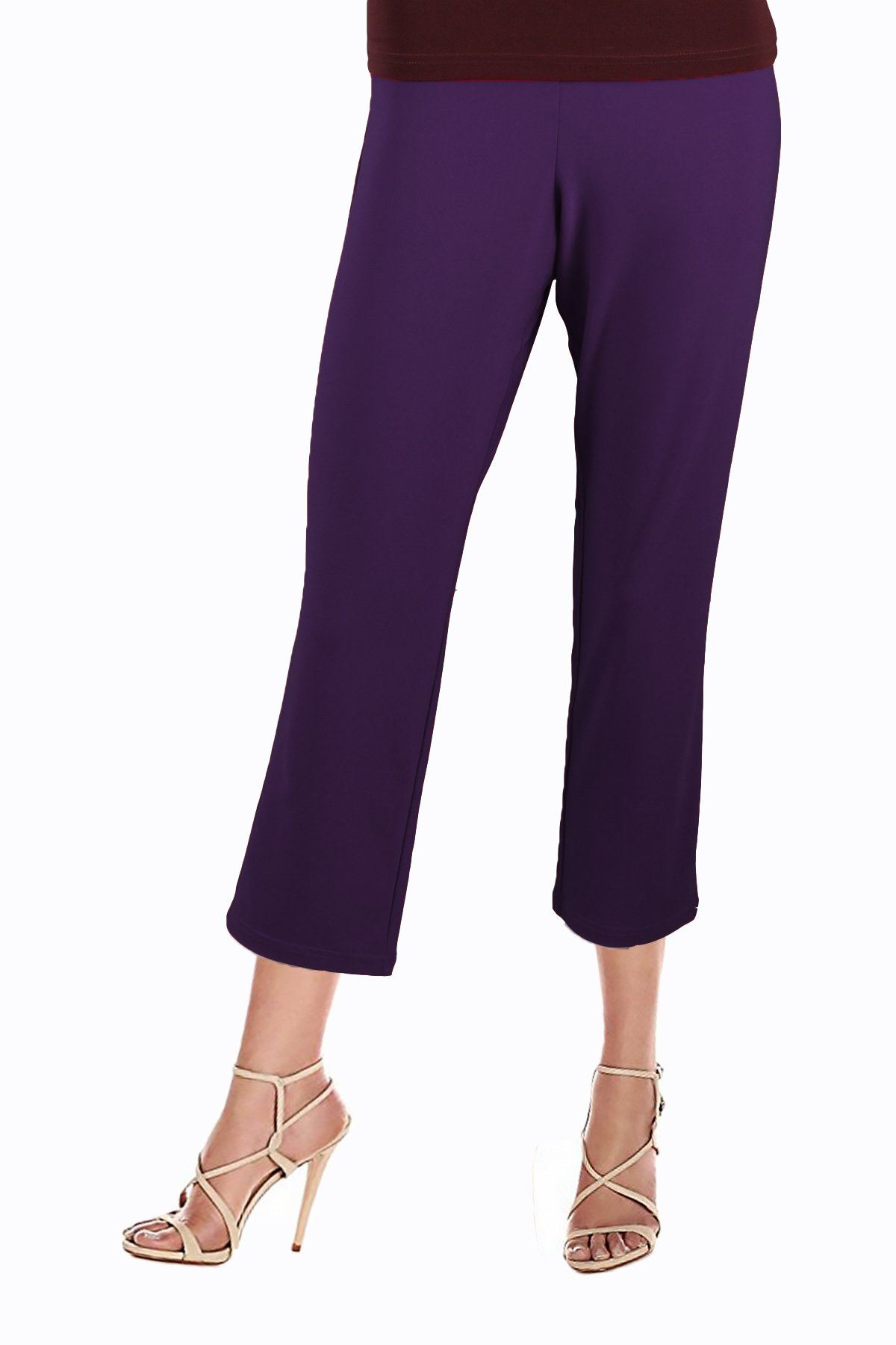Women's Purple 3/4 Capri Pants Rosarini