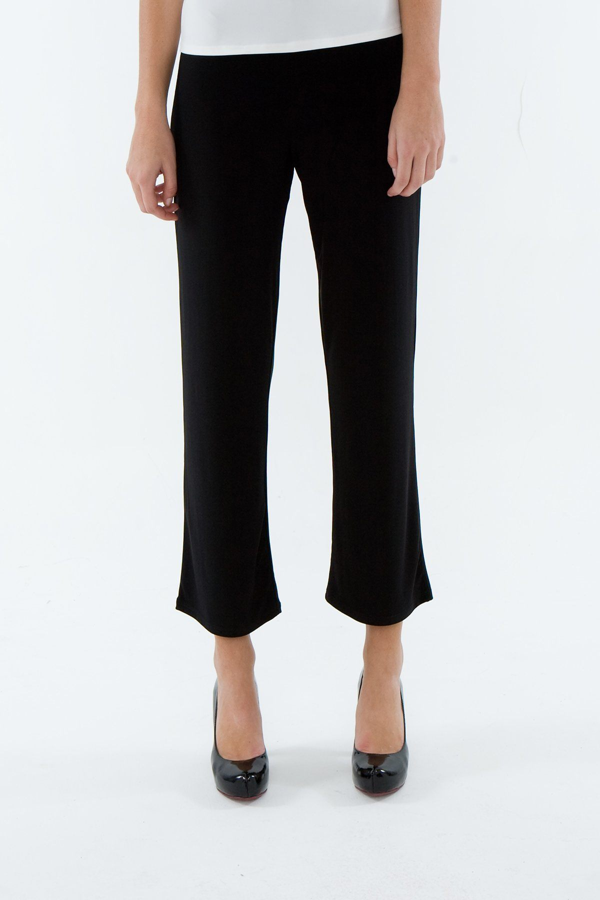 ROSARINI Black Capri Cropped Pants