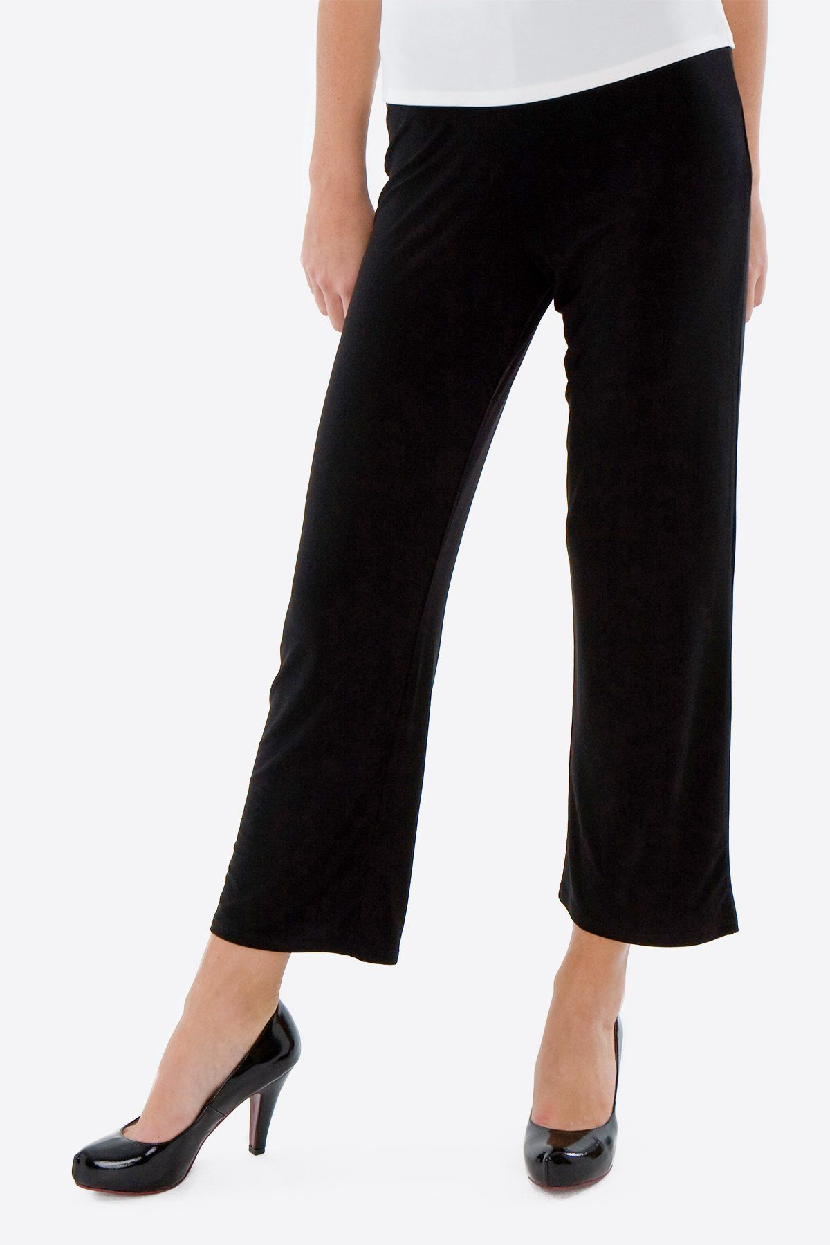 Women's Black 3/4 Capri Pants Rosarini