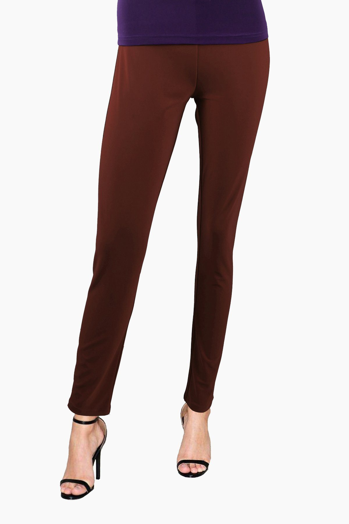 Women's Brown Slim Pants Rosarini