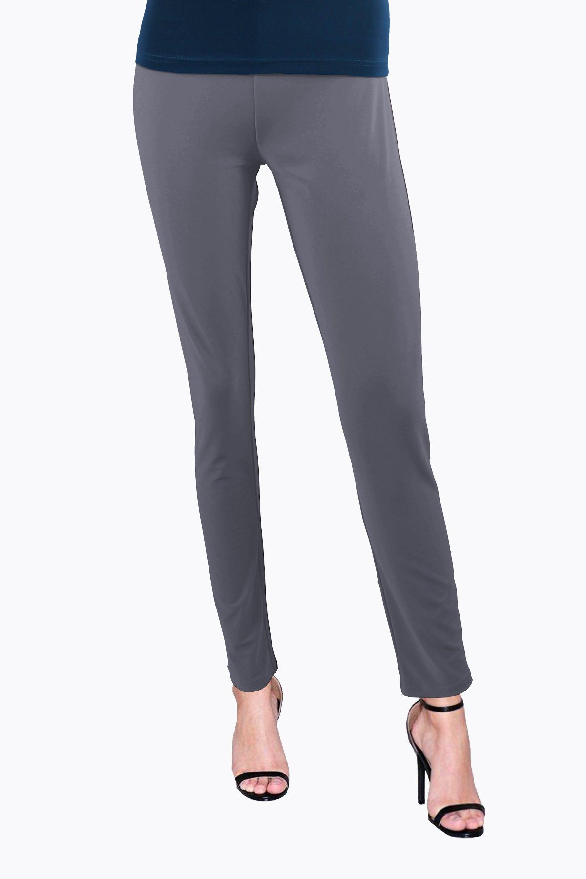 Women's Grey Slim Pants Rosarini