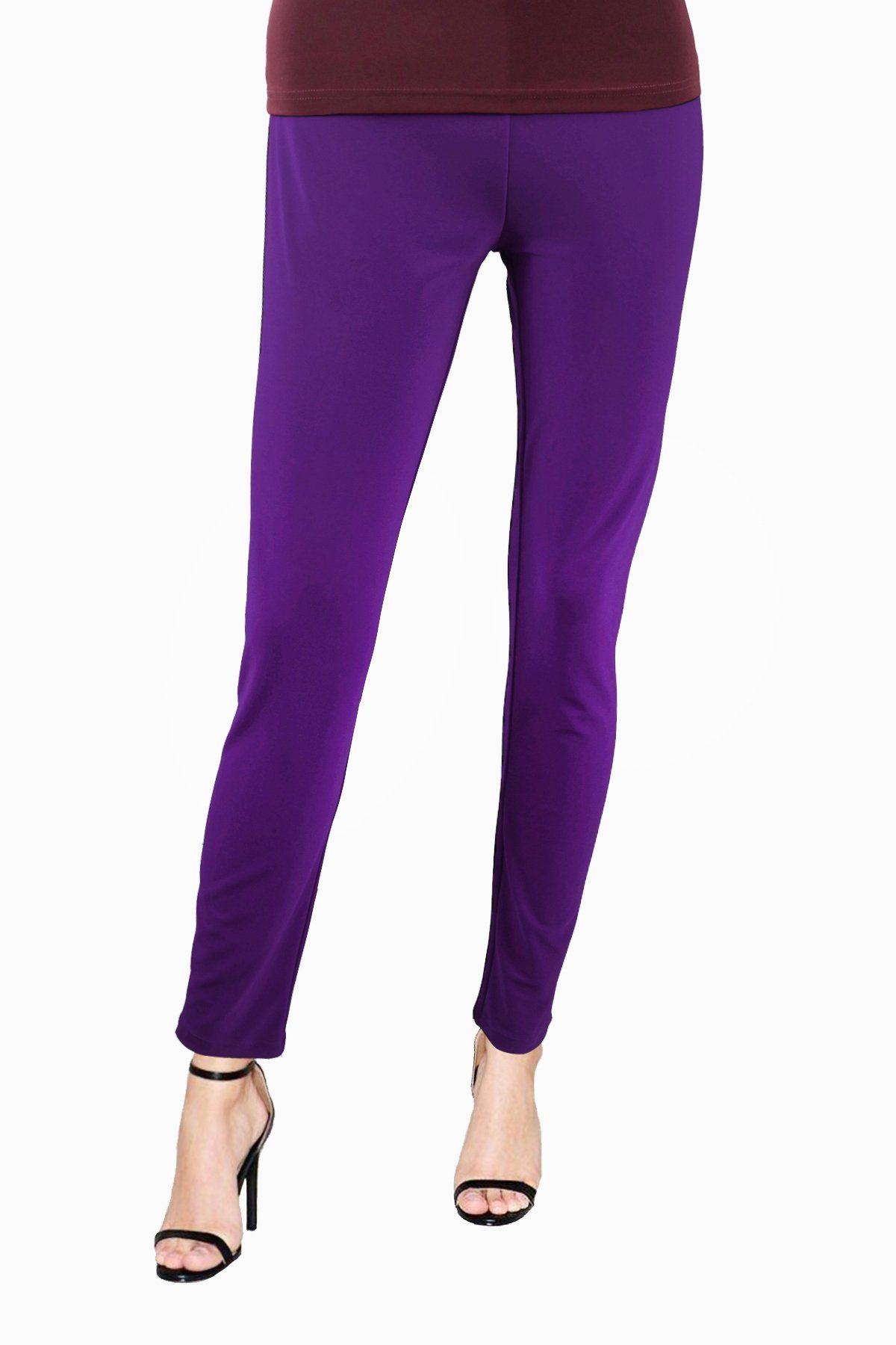 Women's Bright Purple Slim Pants Rosarini