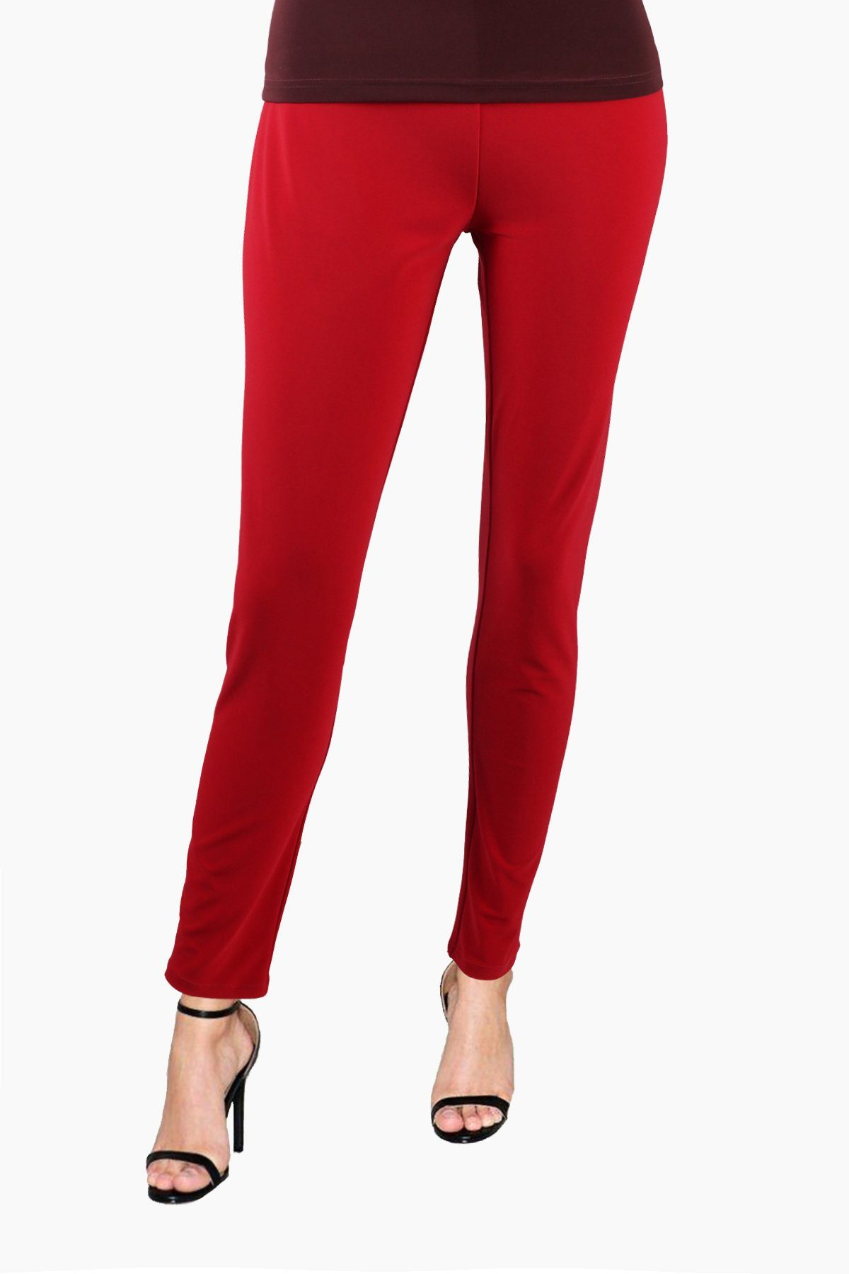Women's Red Slim Pants Rosarini