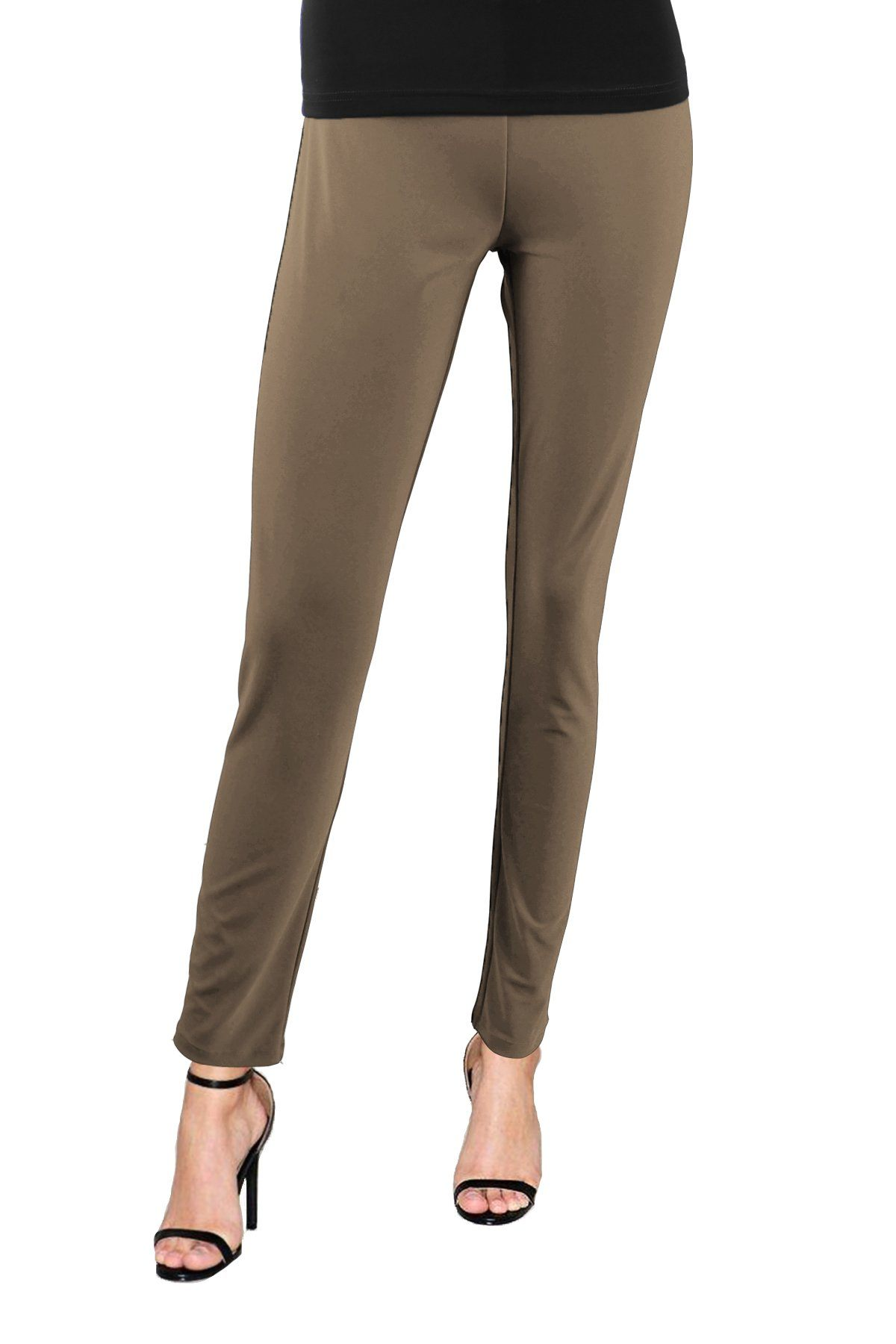 Women's Taupe Slim Pants Rosarini