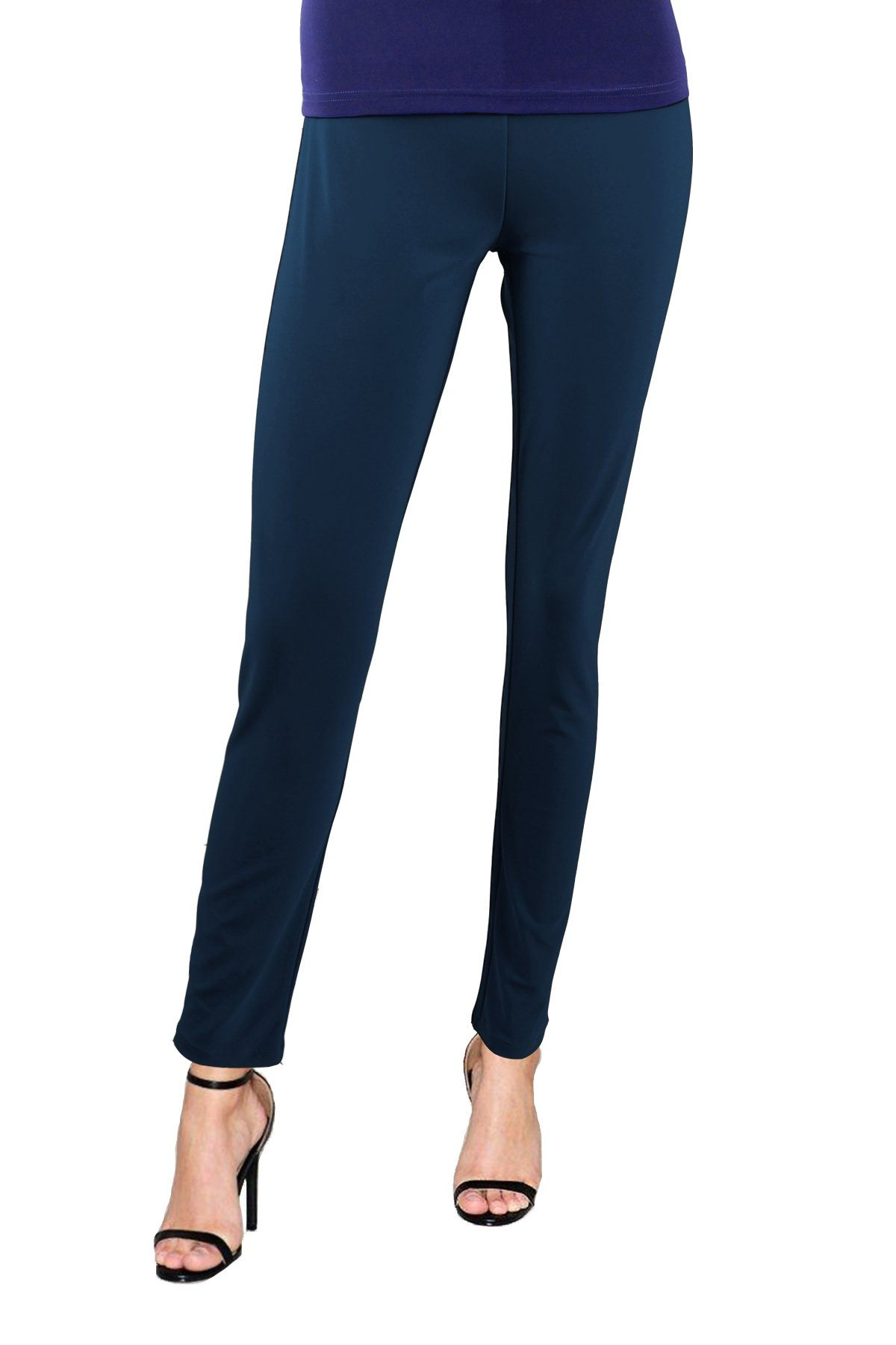 Women's Teal Slim Pants Rosarini