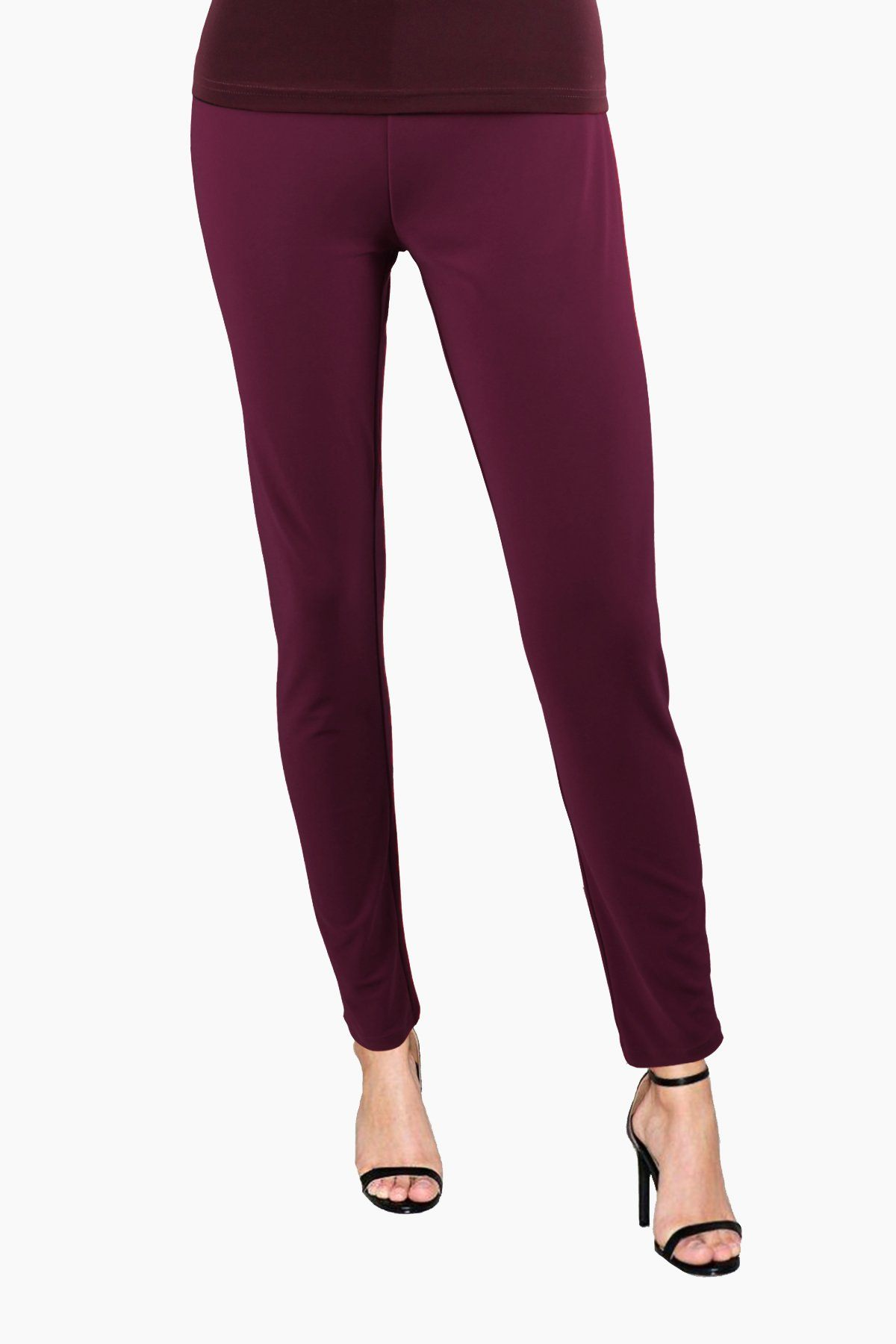 Women's Wine Slim Pants Rosarini