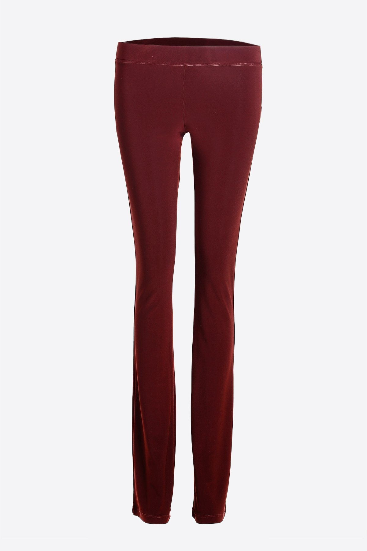 Women's Dark Red Slim Boot Leg Pants Rosarini