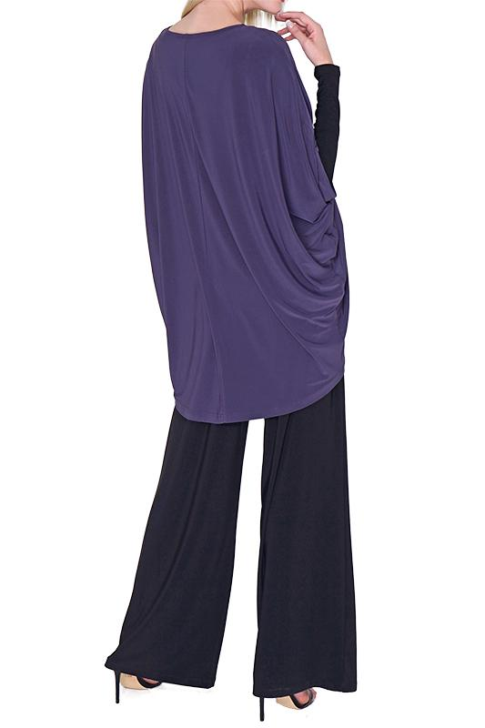 Women's Black Wide Leg Pants Rosarini