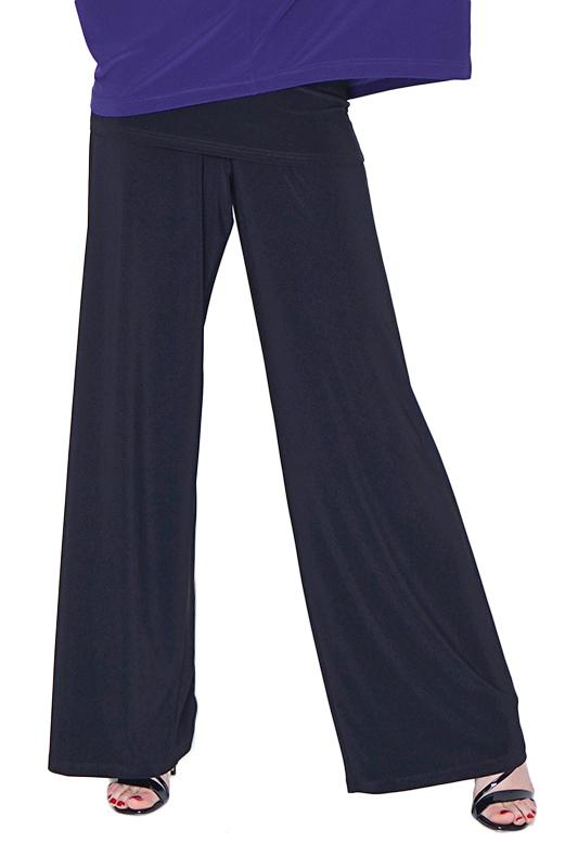 Women's Black Wide Leg Pants - Rosarini