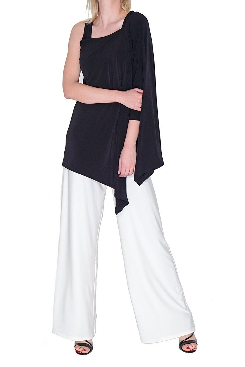 Women White Wide Leg Pants - Rosarini