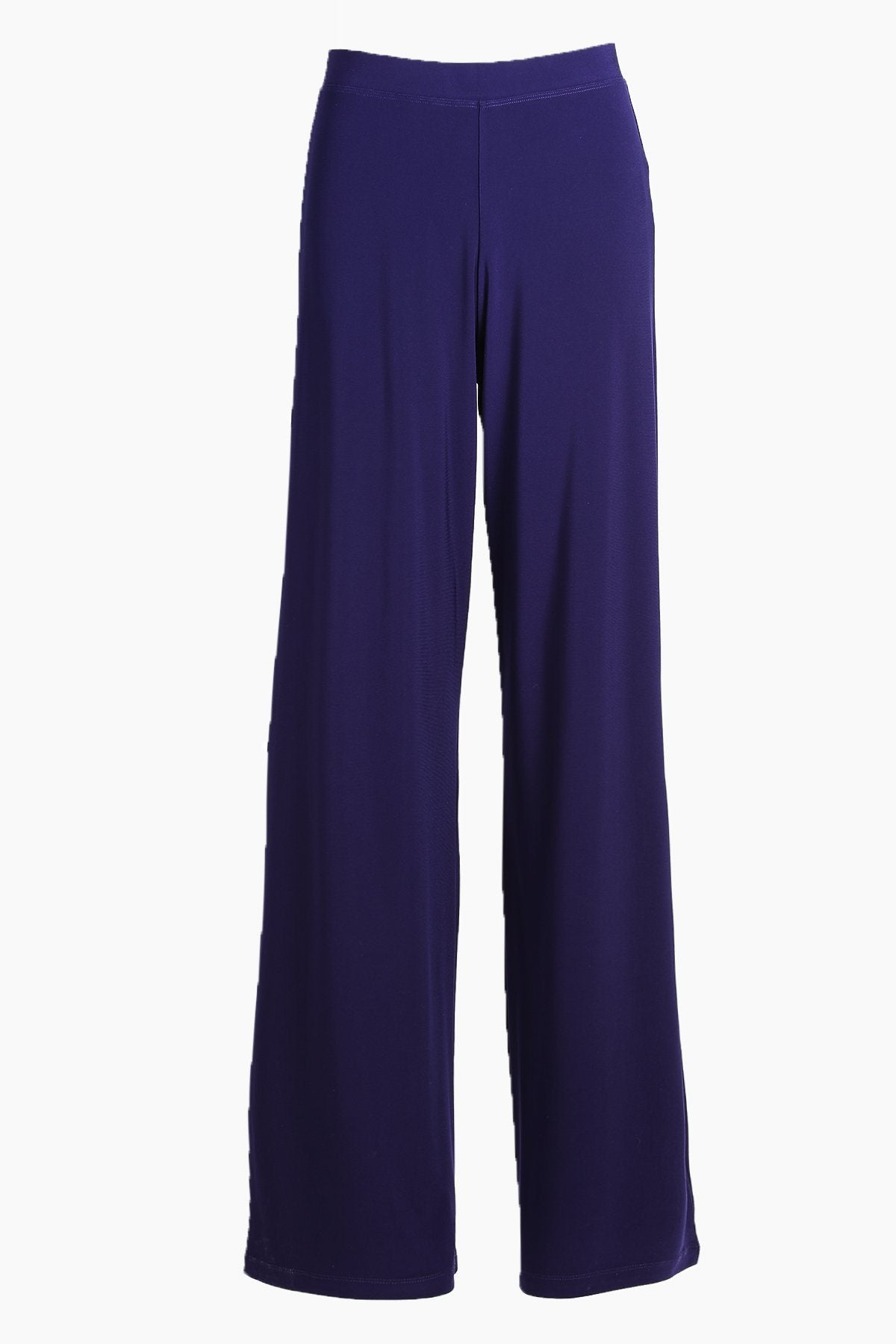 Navy Wide Leg Pants - Women's Clothing -ROSARINI