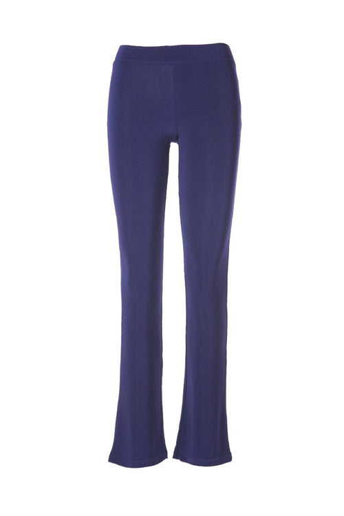 Women's Navy Slim Boot Leg Pants Rosarini