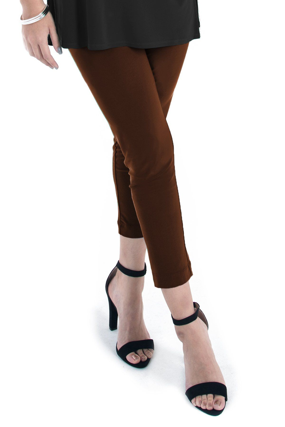 Slim Cropped Pants - Women's Clothing -ROSARINI